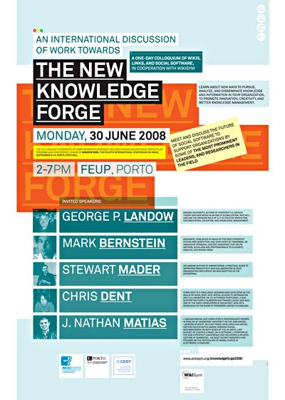 Poster The New Knowledge Forge 2008